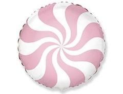 F Круг, Конфета розовая пастель, 18