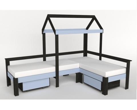 Кровать-домик АВАРА-7 левая