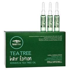 Регенерирующие ампулы против выпадения волос Paul Mitchell Tea Tree Hair Lotion Keravis & Tea Tree Oil 12*6 мл