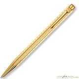 Шариковая ручка Carandache Ecridor Chevron gilded латунь позолота (898.208)