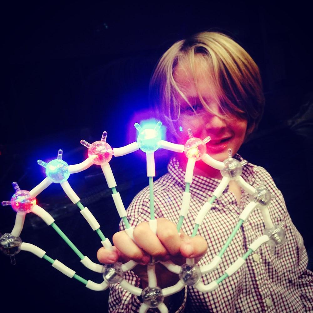 light up links детский светящийся конструктор 238 частей