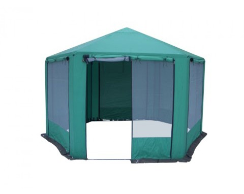 Зеленый | Шатер-кухня для кемпинга Митек Пикник-шестигранник, Зеленый