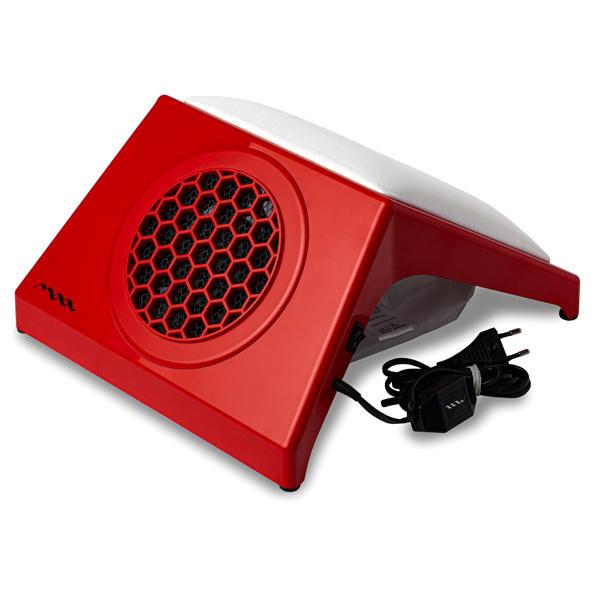 Настольная вытяжка для маникюра MAX Ultimate 4 Красный (65Вт max), с подушкой WHITE фото