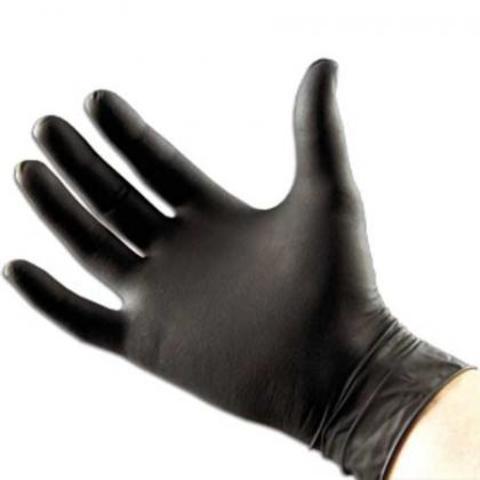 Перчатки парикмахерские черные 100 штук. Размер S