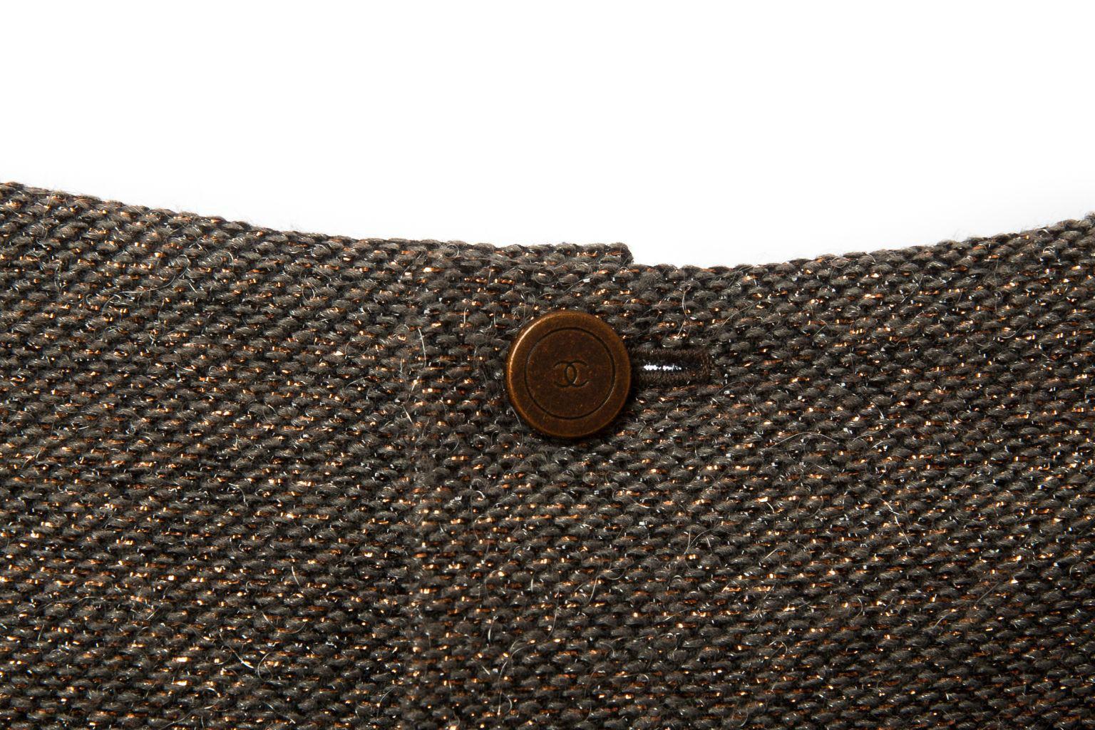 Роскошный твидовый топ расшитый пайетками от Chanel, 34 размер