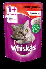 Whiskas крем-суп с говядиной 85 гр