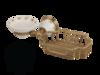 Мыльница с корзиной настенная Migliore Provance ML.PRO-60.526 керамика с декором