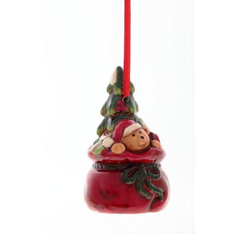 Новогоднее украшение подвесное Мишка , 8, 8см, 663579