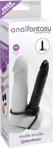 Pipedream Anal Fantasy Collection Double Trouble Безремневый мужской страпон