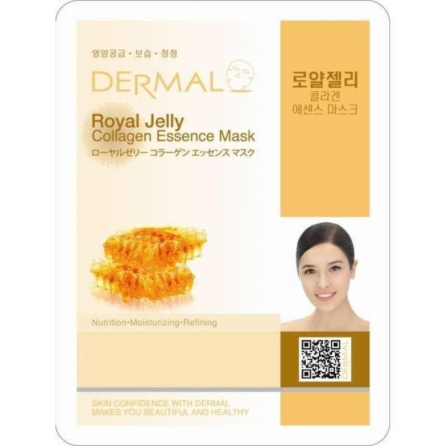 Dermal Маска д/лица ткан. маточное молочко и коллаген - омоложение Royal Jelly Collagen, 23 гр