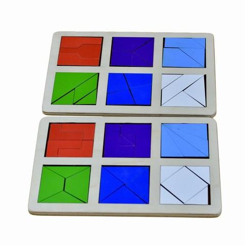 Логическая игра Сложи квадрат Б.П. Никитин уровень 2, RadugaKids (Радуга Кидс)