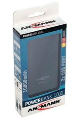 Универсальный аккумулятор ANSMANN Powerbank 10800мА - черный