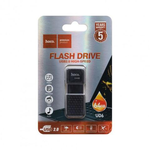Накопитель HOCO USB Flash Disk Intelligent U disk UD6 64GB, black