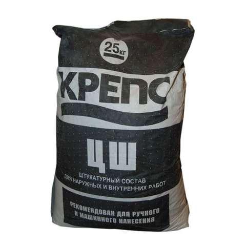 КРЕПСОЛИТ ЦШ штукатурка цементная 25кг (5-25мм)