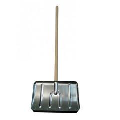 Лопата снеговая оцинк. 500x300мм, 0,8мм, с планкой, с дер.чер. (ЛТР)