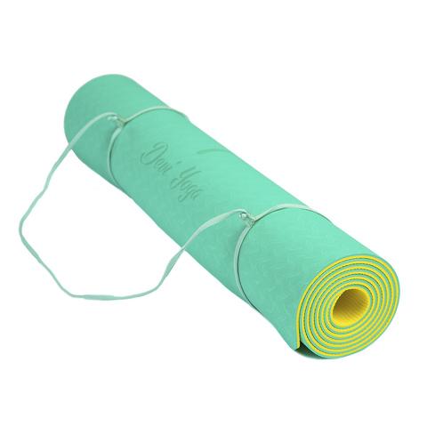 Коврик для йоги с разметкой Лайм 183*61*5мм