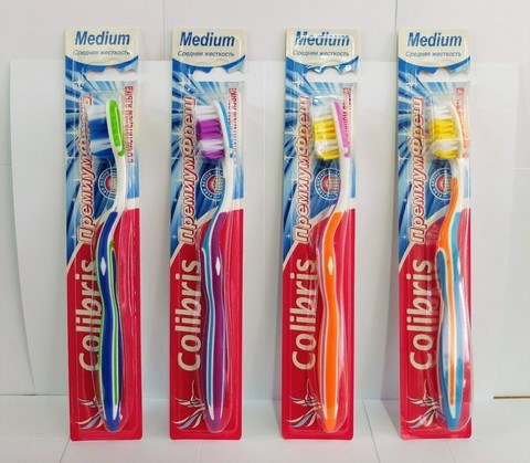 Colibris Зубная щетка средняя жесткость 0902