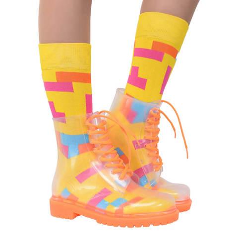 Прозрачные ботинки Invisible-Shoes Оранжевые