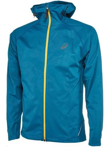 Ветрозащитная куртка Asics FujiTrail SoftShell мужская синяя