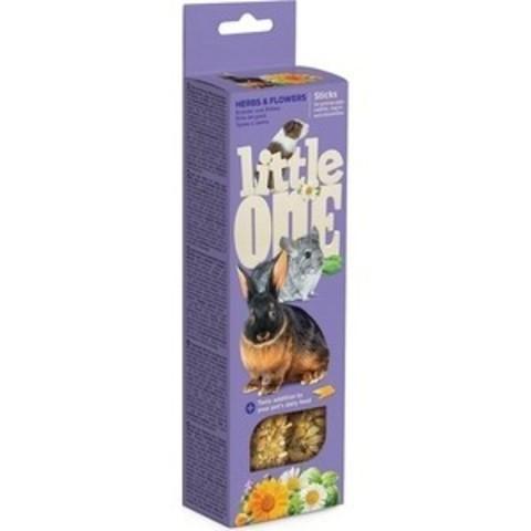 Little One палочки для морских свинок, кроликов и шиншилл с травами и цветами 2шт*55г