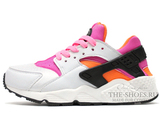 Кроссовки Женские Nike Air Huarache White Black Orange Pink
