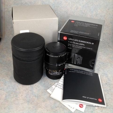 Leica Apo-Summicron-M 75 mm f/ 2 Asph Демо