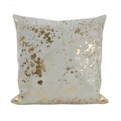 Подушка декоративная 45х45 Hamam Sultan слоновая кость-золото