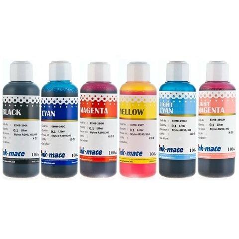 Комплект чернил Ink-Mate для Epson R290, R390, 1400, 1410, L800, L805. 6х100 мл