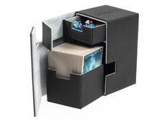 Ultimate Guard - Кожаная черная коробочка с отделением для кубиков на 100+ карт