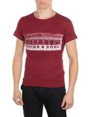 18666-5 футболка мужская, бордовая