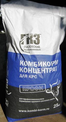 Комбикорм для КРС, Глазовский комбикормовый завод 25кг