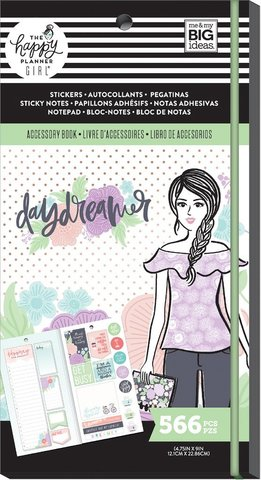 Блокнот со стикерами и стекерблоками Accessory Book - Daydreamer -566 шт