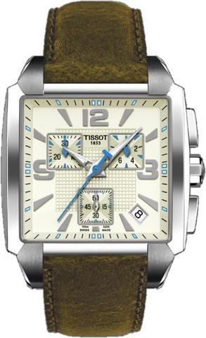 Купить Мужские швейцарские часы Tissot T-Trend Quadrato T005.517.16.267.00 по доступной цене