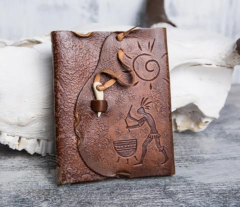 BY01-04-03 Кожаный блокнот  ручной работы