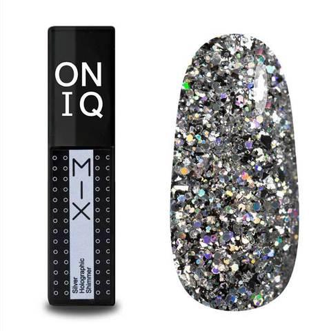 OGP-100s Гель-лак для покрытия ногтей. MIX: Silver Holographic Shimmer