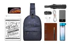 Рюкзак однолямочный WiWU Vigor синий камуфляж