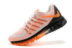 Кроссовки Мужские Nike Air Max 2015 White Black Orange