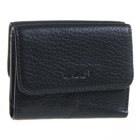 Стильный чёрный мужской кошелёк из натуральной кожи GALIB 1M240