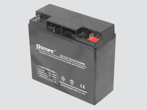 Аккумулятор свинцово-кислотный 12V,17Ah SC-12170 180*168*76мм