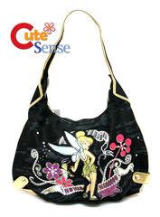 Disney TinkerBell Denim Shoulder Bag Grils Hand Bag :Pot Round