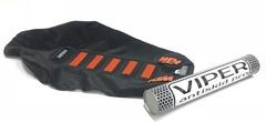 Чехол сиденья KTM SX SX-F EXC 03-07 125-450 Оранжевые вставки