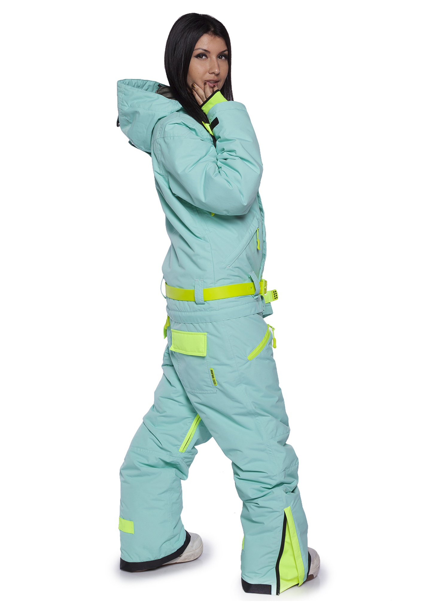 Женский утепленный сноубордический комбинезон Cool Zone Fox 3429 голубой