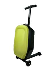 чемодан самокат зеленый
