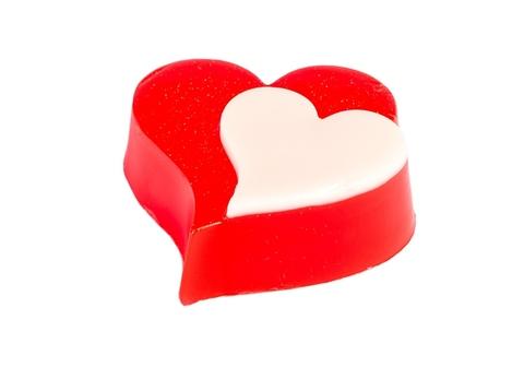 Мыльное ассорти/сердце: ДВА СЕРДЦА, ~ 55±5 гр/шт (кор.№1 пэтф)