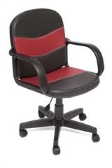 Кресло компьютерное Багги (Baggi) — черный/бордо (36-6/36-7)