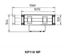 Схема. Канавный домкрат (траверса) пневмогидравлический, г/п 13,5т BUTLER KP118NP (Италия)