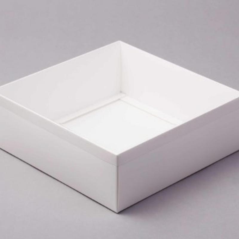 Коробка для зефира с пластиковой крышкой, 20х20х7см