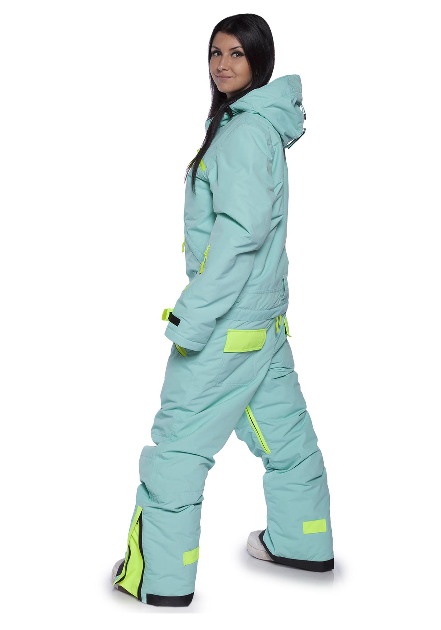 Женский утепленный сноубордический комбинезон Cool Zone Fox 3429 голубой фото