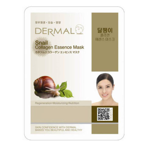 Dermal Маска д/лица ткан. муцин улитки и коллаген - регенерация Snail Collagen Essence Mask, 23 гр