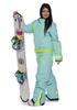 Утепленный сноубордический комбинезон Cool Zone Fox 3429 голубой для женщин